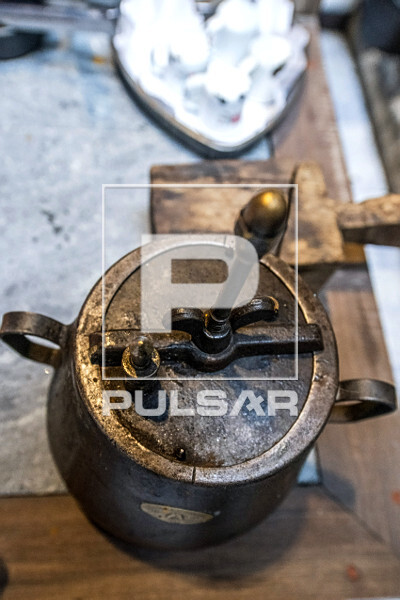 Panela de pressão antiga