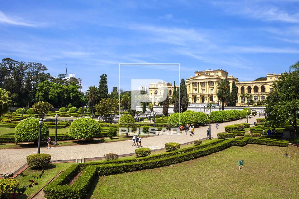 Museu Paulista da USP conhecido como Museu do Ipiranga no Parque da Independência - inaugurado em 1895 projet