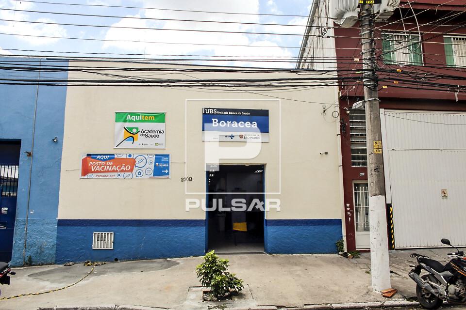 Fachada da UBS Unidade Básica de Saúde Boracea - bairro Barra Funda