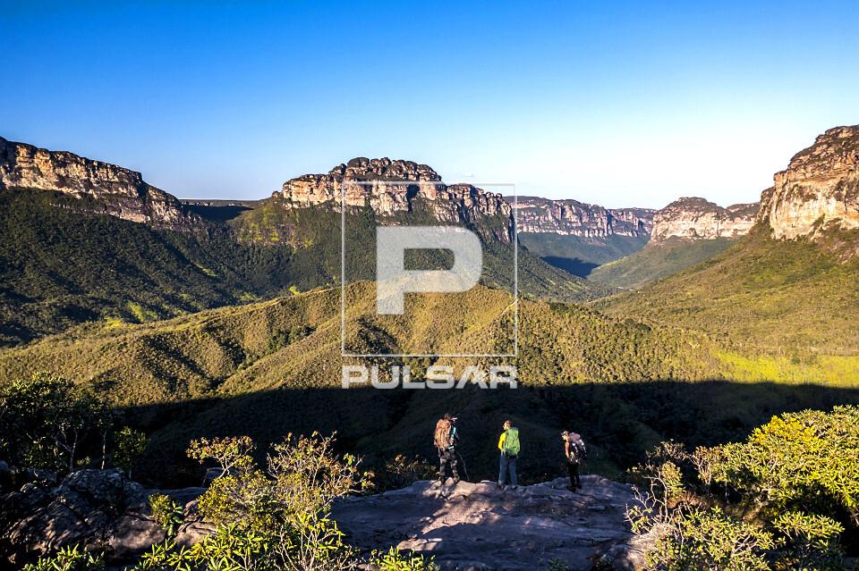 Vista de drone do Vale do Pati - Parque Nacional da Chapada Diamantina