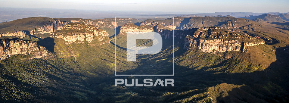 Vista panorâmica de drone do Vale do Pati - Parque Nacional da Chapada Diamantina