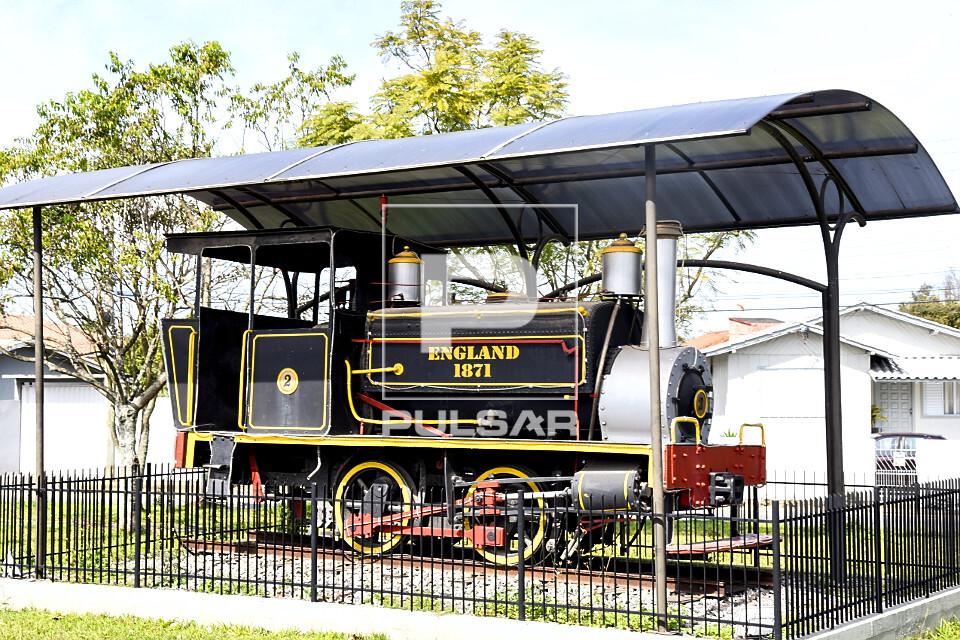 Locomotiva inglesa em exposição - fabricada em 1871