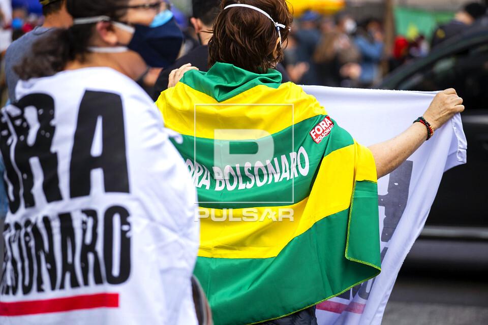 Manifestação na avenida Paulista contra governo do presidente Jair Bolsonaro