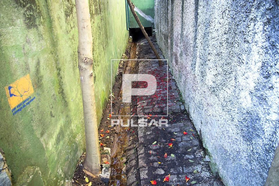 Nascente do córrego do Sapateiro na rua Lutfalla Salim Achoa - bairro Vila Mariana