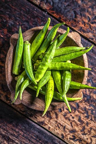 Quiabo - ingrediente típico da cozinha mineira