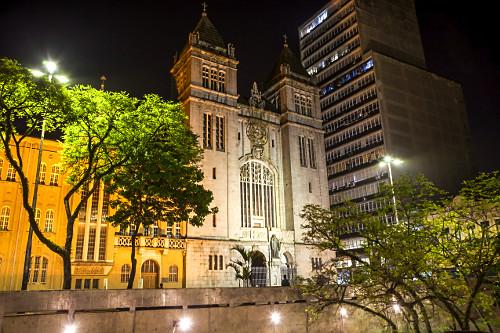 Mosteiro de São Bento no Largo de São Bento - situado no mesmo local desde século XVII - prédio atual do m