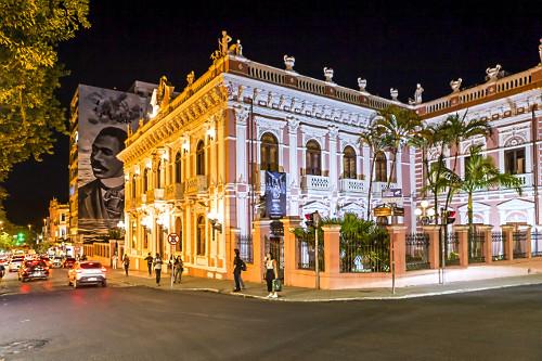 Vista noturna do Museu Histórico de Santa Catarina - Palácio Cruz e Souza - antigo Palácio do Governo local