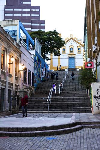 Igreja de Nossa Senhora do Rosário e São Benedito dos Homens Pretos - Escadaria do Rosário - construção f