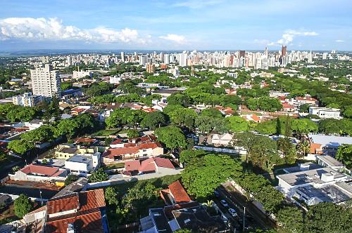 Vista de drone de moradias - Distrito Floriano