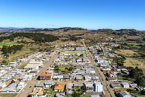 Vista de drone do centro da cidade