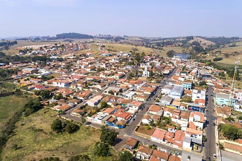 Vista de drone da cidade