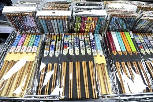Ohashi - talheres de origem japonesa a venda em loja no Bairro da Liberdade
