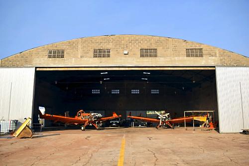 Aviões agrícolas no Aeroporto Estadual Moliterno de Dracena