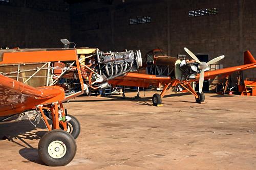 Aeronaves agrícolas no Aeroporto Estadual Moliterno de Dracena