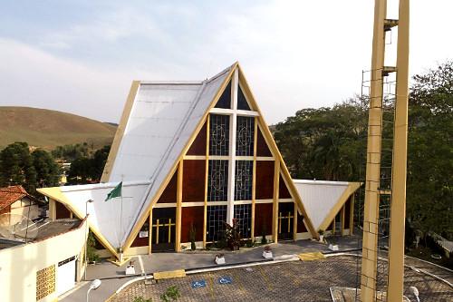 Vista de drone da Igreja de São Miguel