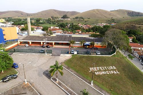 Vista de drone da Prefeitura Municipal