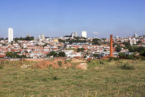 Vista de casas da cidade