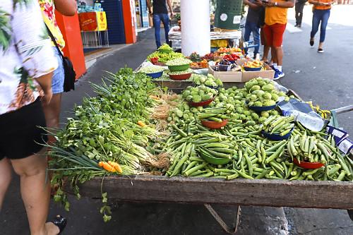 Venda ambulante de legumes e hortaliças no Largo 13 de Maio - Bairro Santo Amaro