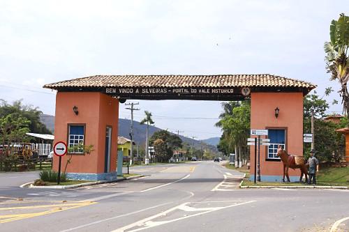 Pórtico da cidade situada na SP-068 Rodovia dos Tropeiros - Vale Histórico